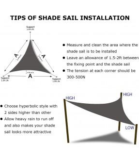 13'x 13'x 13'三角形太陽傘