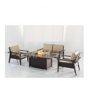 UHome Gas Firetable Sofa Set Single Chair