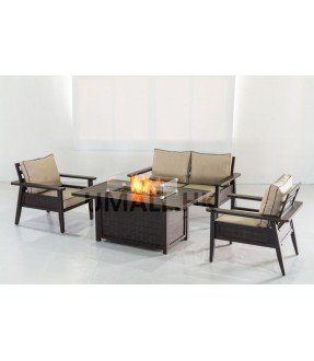 UHome Gas Firetable Sofa Set - Love Seat