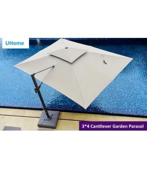 3*4 Patio Square Cantilever Umbrella