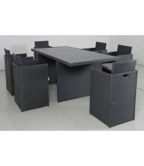 環保木餐桌椅6+1套裝