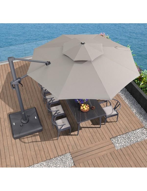 4m Patio Round Shape Cantilever Umbrella with Sunbrella fabric