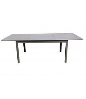 鋁製伸縮圓角餐桌