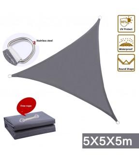 5m Waterproof Sun Shade Sail Triangle