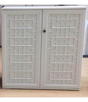 UHome HDPE小型戶外儲物櫃(白色)