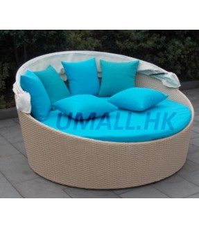 Round-Shape Daybed with Canopy