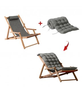 Deluxe Foldable Beach Chair with arm rest