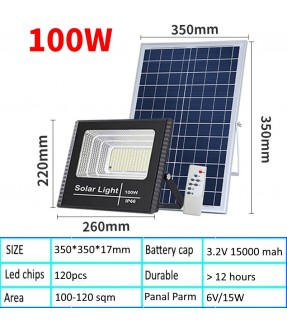 100W Solar Led Single Light Panel