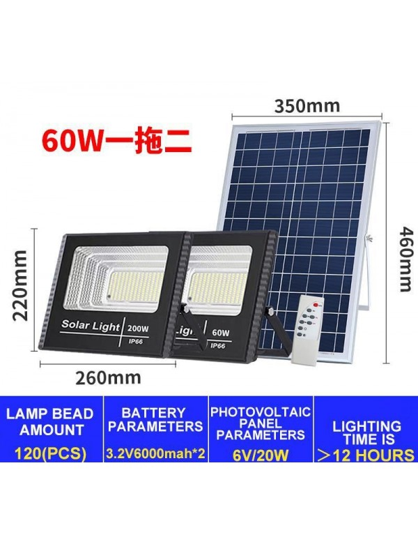 60W Solar Led Double Light Panel