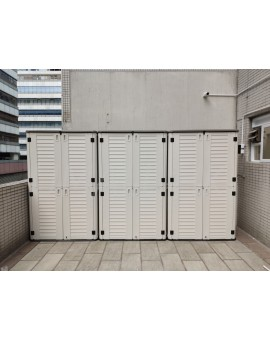 UHOME Double-storey HDPE Outdoor Storage Full set