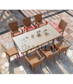 Dining table with 8 chairs set