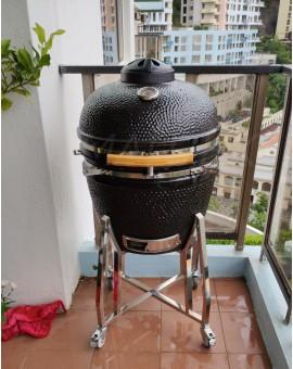 """Kamado 22""""陶瓷炭火燒烤爐"""