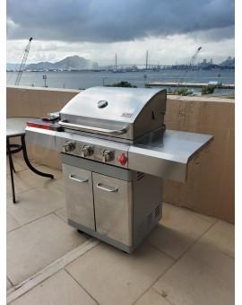 Swiss Grill三爐頭戶外燃氣燒烤爐(連套)