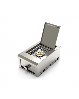 Portable stainless steel BBQ gas grill single side burner