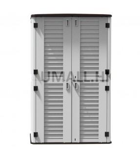 UHOME Double-storey HDPE Outdoor Storage Full set