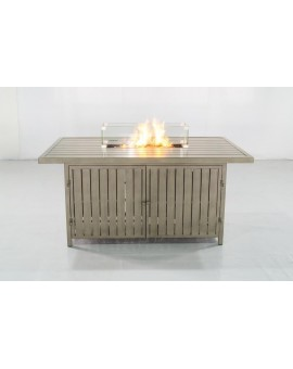 Rectangle shape fire table
