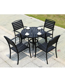 4+1 Round shape Polywood table and chairs