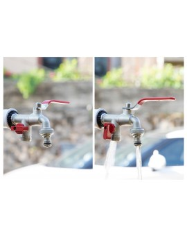 Double Outlet Garden Tap