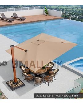Sunbrella Cantilever Umbrella with Movable Base
