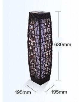 Rattan Solar LED Lamp - Light Brown