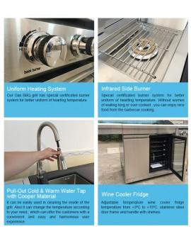 Swiss grill modular kitchen cabinet outdoor