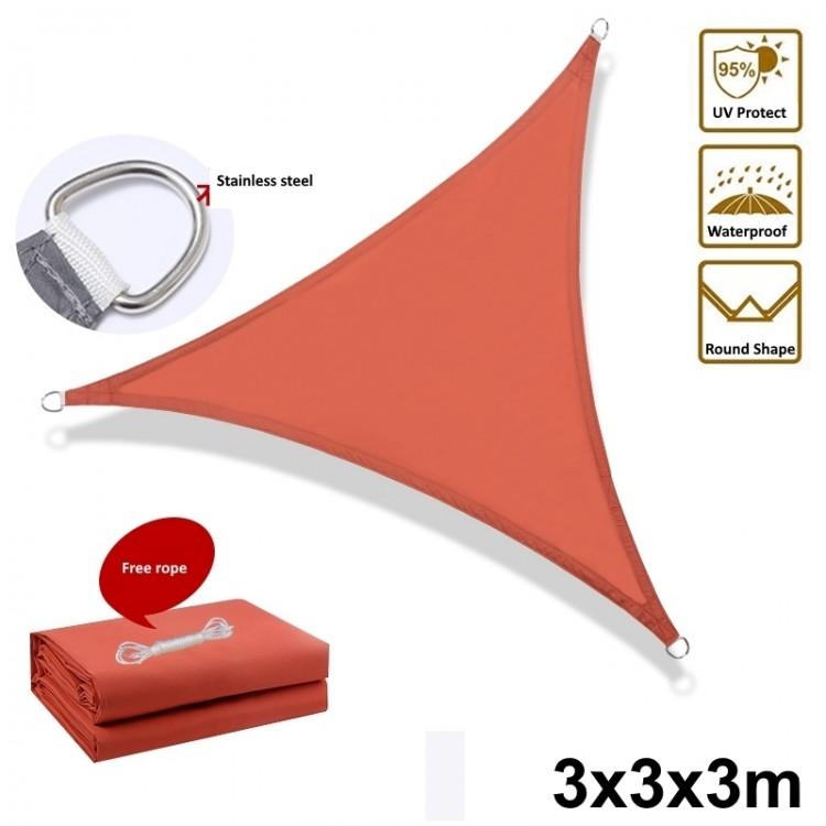 3m Waterproof Sun Shade Sail Triangle