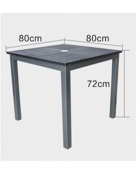 Matte Grey Polywood Table 80*80cm