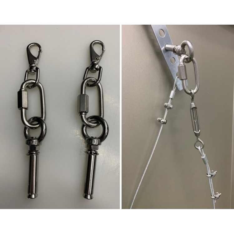 Secure stainless steel wire for storage