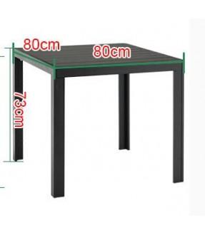 黑色木紋環保木4+1餐桌椅套裝