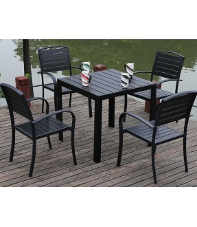 Polywood table 4+1 set