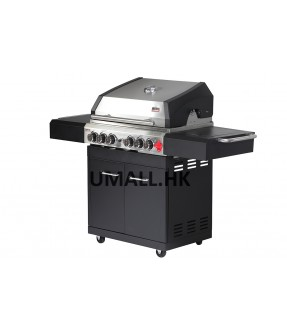 Swiss Grill A250B Arosa Series Stainless Steel Grill With 6-Piece Burner Unit