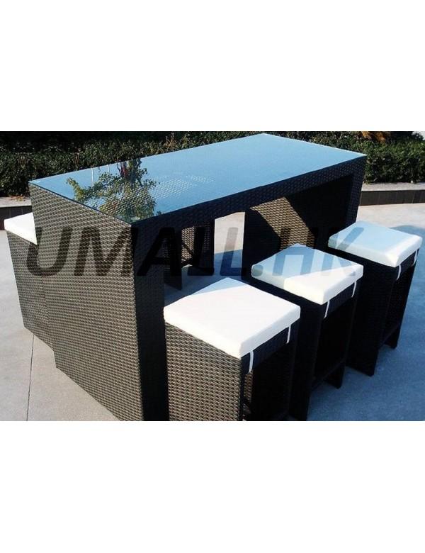 藤製吧凳桌套裝