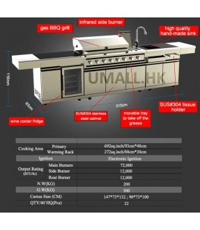 Swiss grill modular kitchen cabinet outdoor