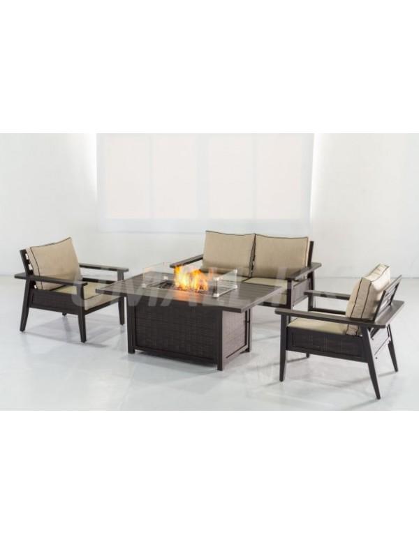 UHOME Gas Firetable Sofa Set