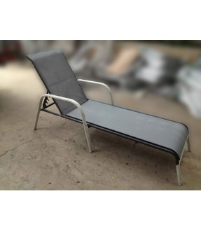 Aluminum sun lounger
