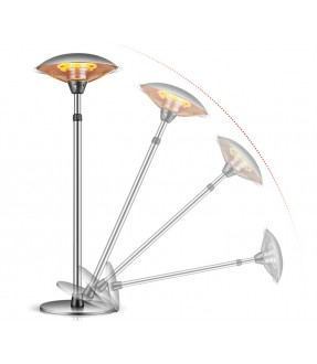 Electric Patio Heater With Height Adjustable