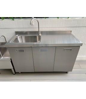 不銹鋼三門水槽(鋅盆)