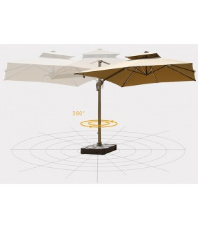Deluxe Patio Square Cantilever Umbrella with import fabric