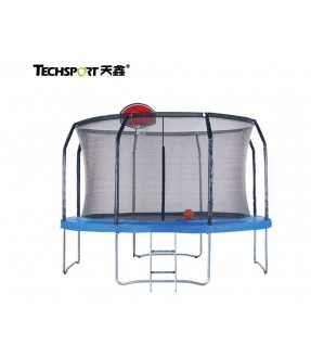 TechSport Commercial 10ft Trampoline with Safety Net