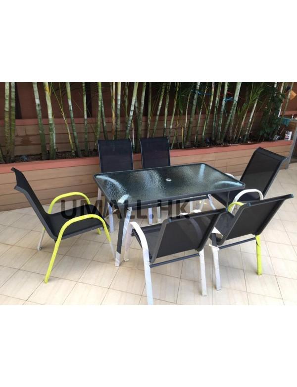 6人用鋁合金休閒桌椅套裝