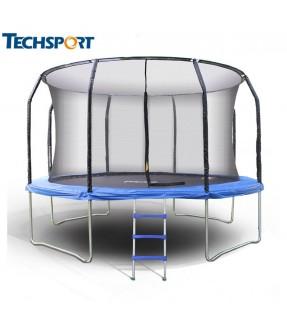 TechSport 12英尺帶安全網戶外彈彈床