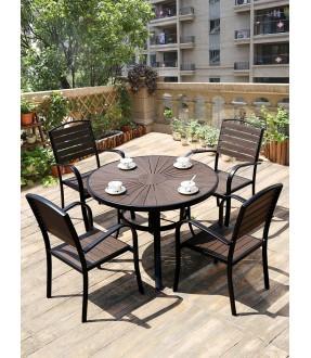 Sun shape polywood round table set