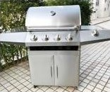 4+1 Stainless Steel Gas BBQ Grill